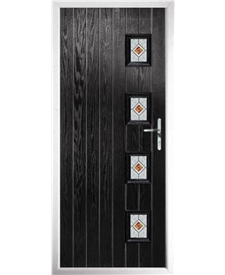 The Preston Composite Door in Black with Red Daventry
