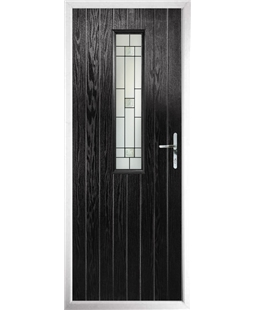 The Sheffield Composite Door in Black with Tate