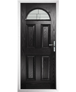 The Derby Composite Door in Black with Tate