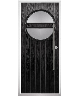 The Xenia Composite Door in Black with Clear Glazing