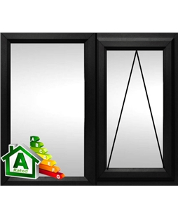 The Glasgow uPVC Double / Triple Glazing Windows in  Black