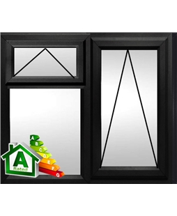 The Leeds uPVC Double / Triple Glazing Windows in  Black