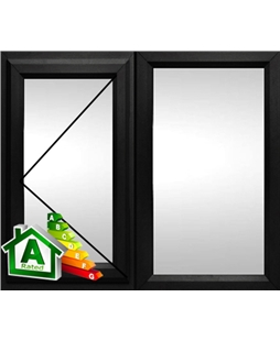 The Cardiff uPVC Double / Triple Glazing Windows in  Black