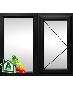 The Coventry uPVC Double / Triple Glazing Windows in  Black