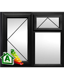 The Croydon uPVC Double / Triple Glazing Windows in  Black