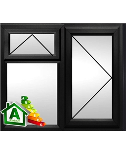 The Derby uPVC Double / Triple Glazing Windows in  Black