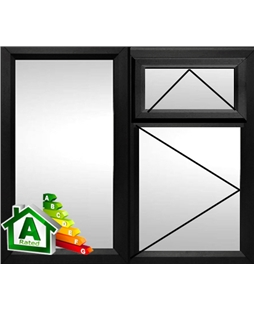 The Epsom uPVC Double / Triple Glazing Windows in  Black
