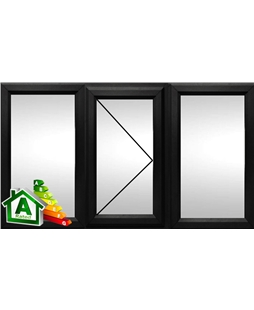 The Oxford uPVC Double / Triple Glazing Windows in  Black