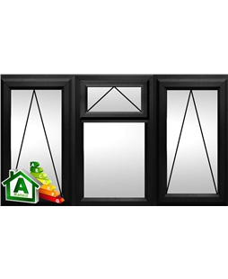 The Preston uPVC Double / Triple Glazing Windows in  Black