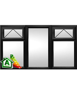 The Liverpool uPVC Double / Triple Glazing Windows in  Black