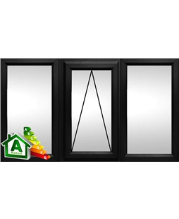 The Northampton uPVC Double / Triple Glazing Windows in  Black
