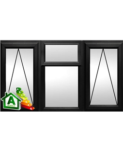The Norwich uPVC Double / Triple Glazing Windows in  Black