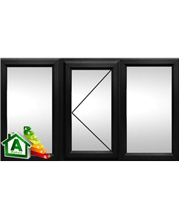 The Nottingham uPVC Double / Triple Glazing Windows in  Black