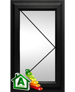 The Bournemouth uPVC Double / Triple Glazing Windows in  Black