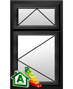 The Bradford uPVC Double / Triple Glazing Windows in  Black