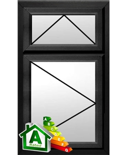 The Brighton uPVC Double / Triple Glazing Windows in  Black