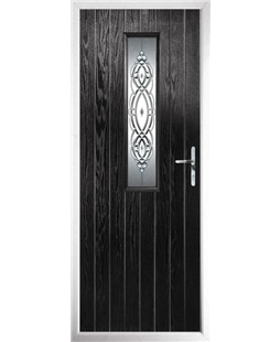 The Sheffield Composite Door in Black with Reflections