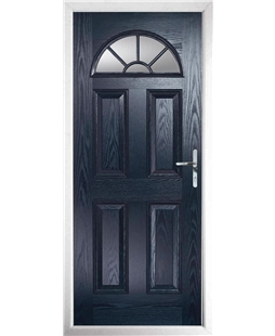 The Jamestown Composite Door in Blue with Clear Glazing