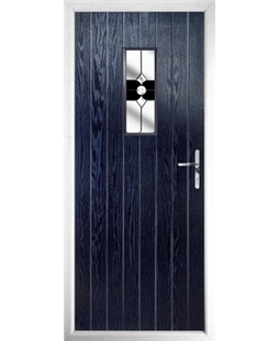 The Taunton Composite Door in Blue with Black Crystal Bohemia