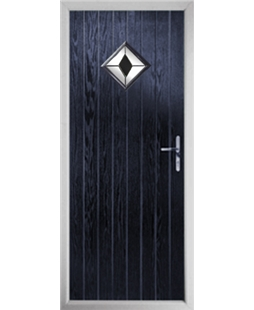 The Reading Composite Door in Blue with Black Diamond