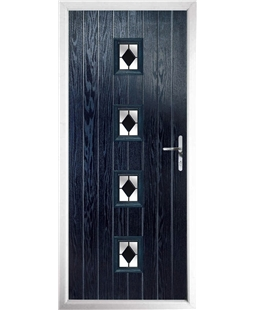 The Uttoxeter Composite Door in Blue with Black Diamonds