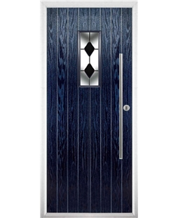 The Zetland Composite Door in Blue with Black Diamonds