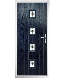 The Uttoxeter Composite Door in Blue with Black Fusion Ellipse