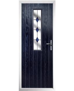 The Sheffield Composite Door in Blue with Blue Diamonds