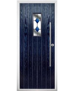 The Zetland Composite Door in Blue with Blue Diamonds