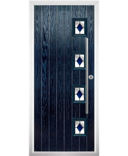 The Norwich Composite Door in Blue with Blue Diamonds