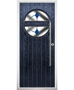 The Xenia Composite Door in Blue with Blue Diamonds