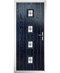 The Uttoxeter Composite Door in Blue with Blue Fusion Ellipse