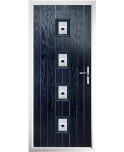The Uttoxeter Composite Door in Blue with Blue Murano