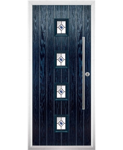 The Leicester Composite Door in Blue with Blue Fusion Ellipse