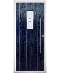 The Zetland Composite Door in Blue with Classic Glazing