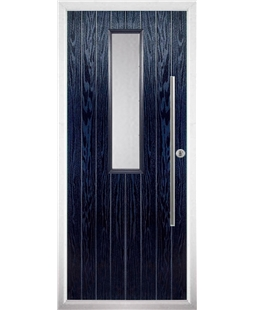 The York Composite Door in Blue with Clear Glazing