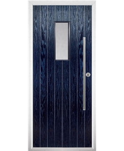 The Zetland Composite Door in Blue with Clear Glazing