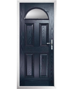 The Derby Composite Door in Blue with Clear Glazing