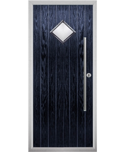 The Wolverhampton Composite Door in Blue with Clear Glazing