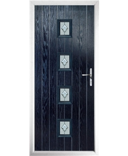 The Uttoxeter Composite Door in Blue with Cameo