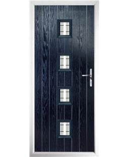 The Uttoxeter Composite Door in Blue with Tate