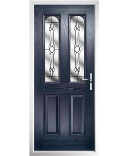 The Aberdeen Composite Door in Blue with Crystal Bohemia