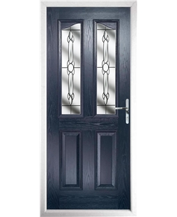 The Birmingham Composite Door in Blue with Crystal Bohemia