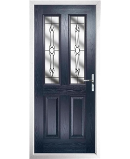 The Cardiff Composite Door in Blue with Crystal Bohemia
