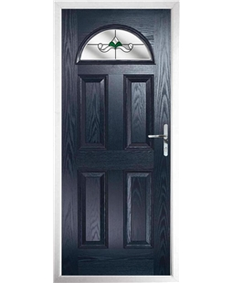 The Derby Composite Door in Blue with Crystal Bohemia