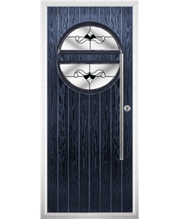 The Xenia Composite Door in Blue with Black Crystal Bohemia