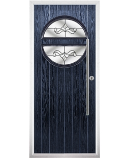 The Xenia Composite Door in Blue with Clear Crystal Bohemia
