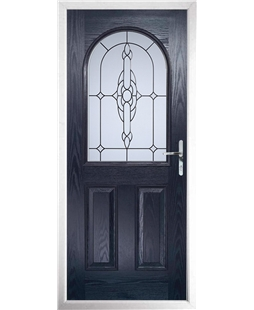 The Edinburgh Composite Door in Blue with Crystal Bohemia Frost