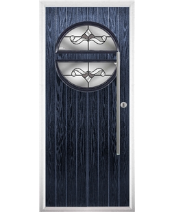 The Xenia Composite Door in Blue with Crystal Bohemia Frost