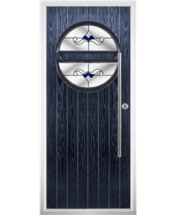 The Xenia Composite Door in Blue with Blue Crystal Bohemia